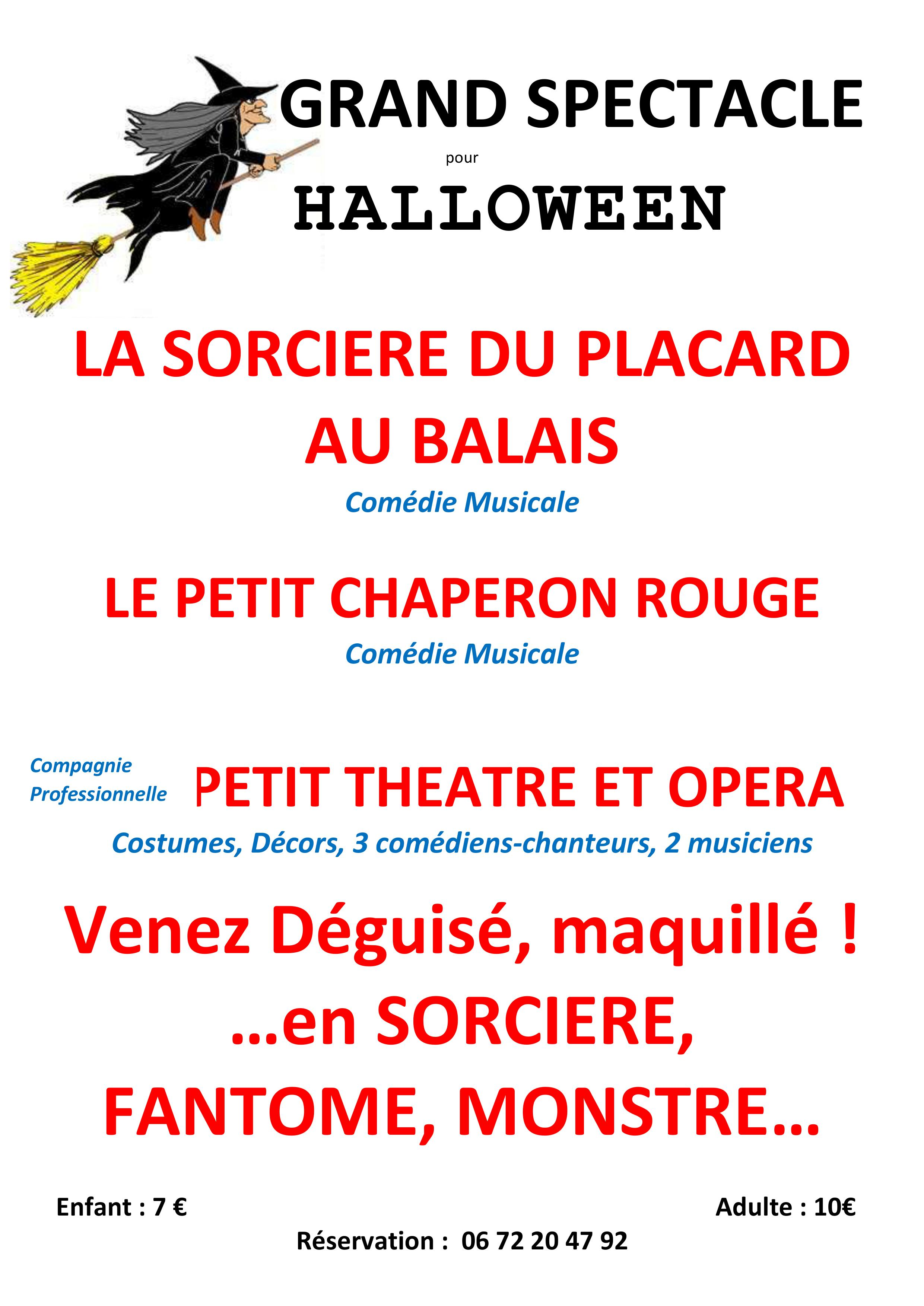 é musicale Grand spectacle pour Halloween