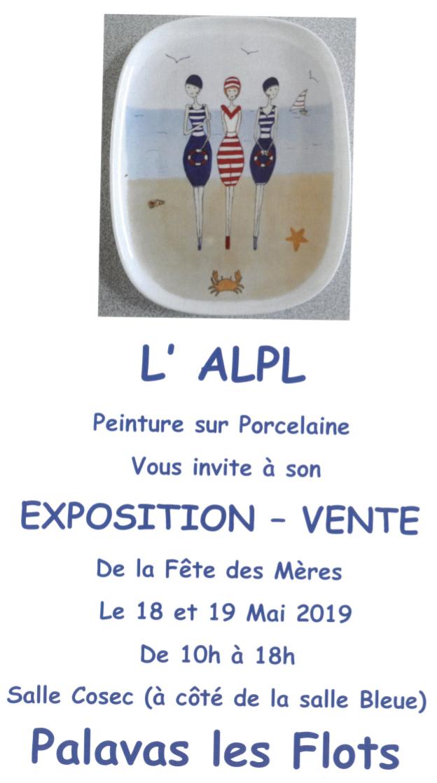 Exposition de l'association Ateliers Libres Palavasiens des Lamparos