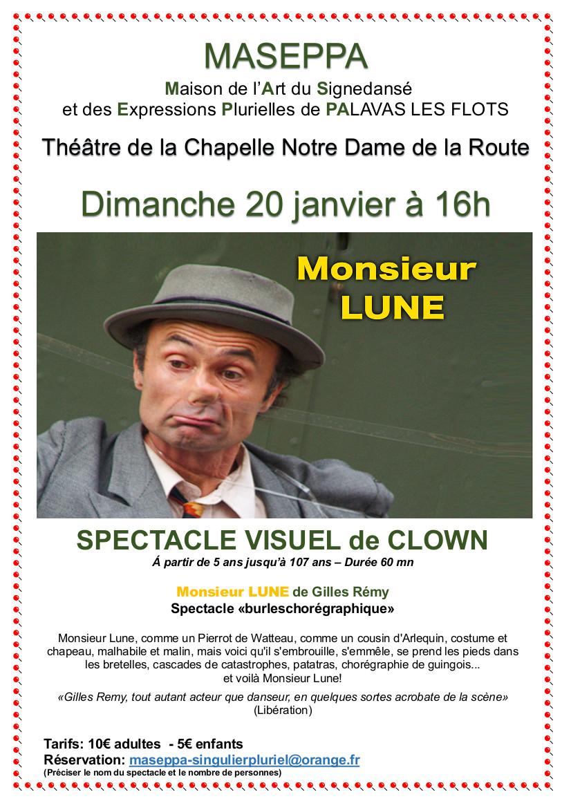 Spectacle Visuel de Clown « Monsieur Lune »