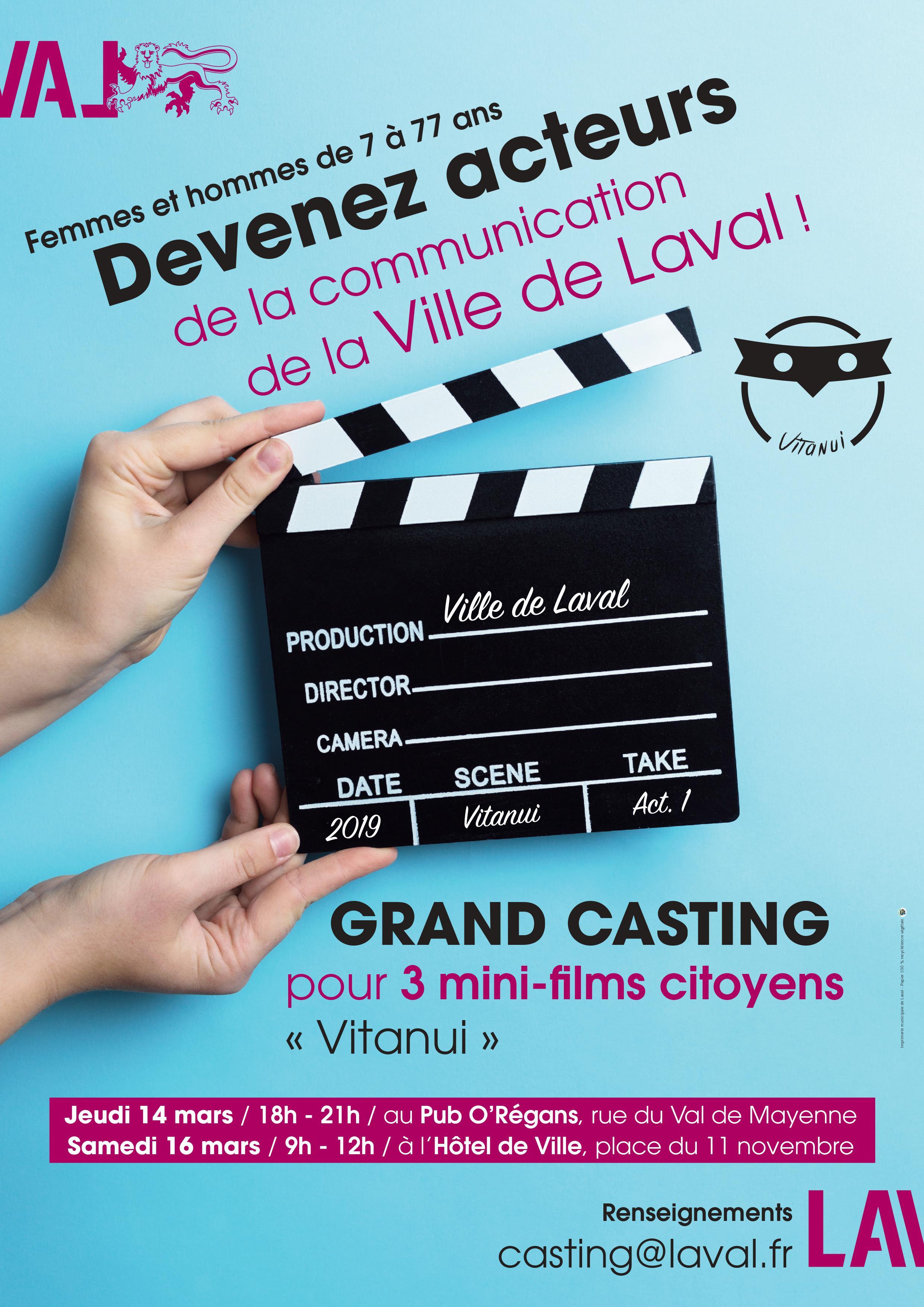 Grand Casting pour 3 mini-films citoyens