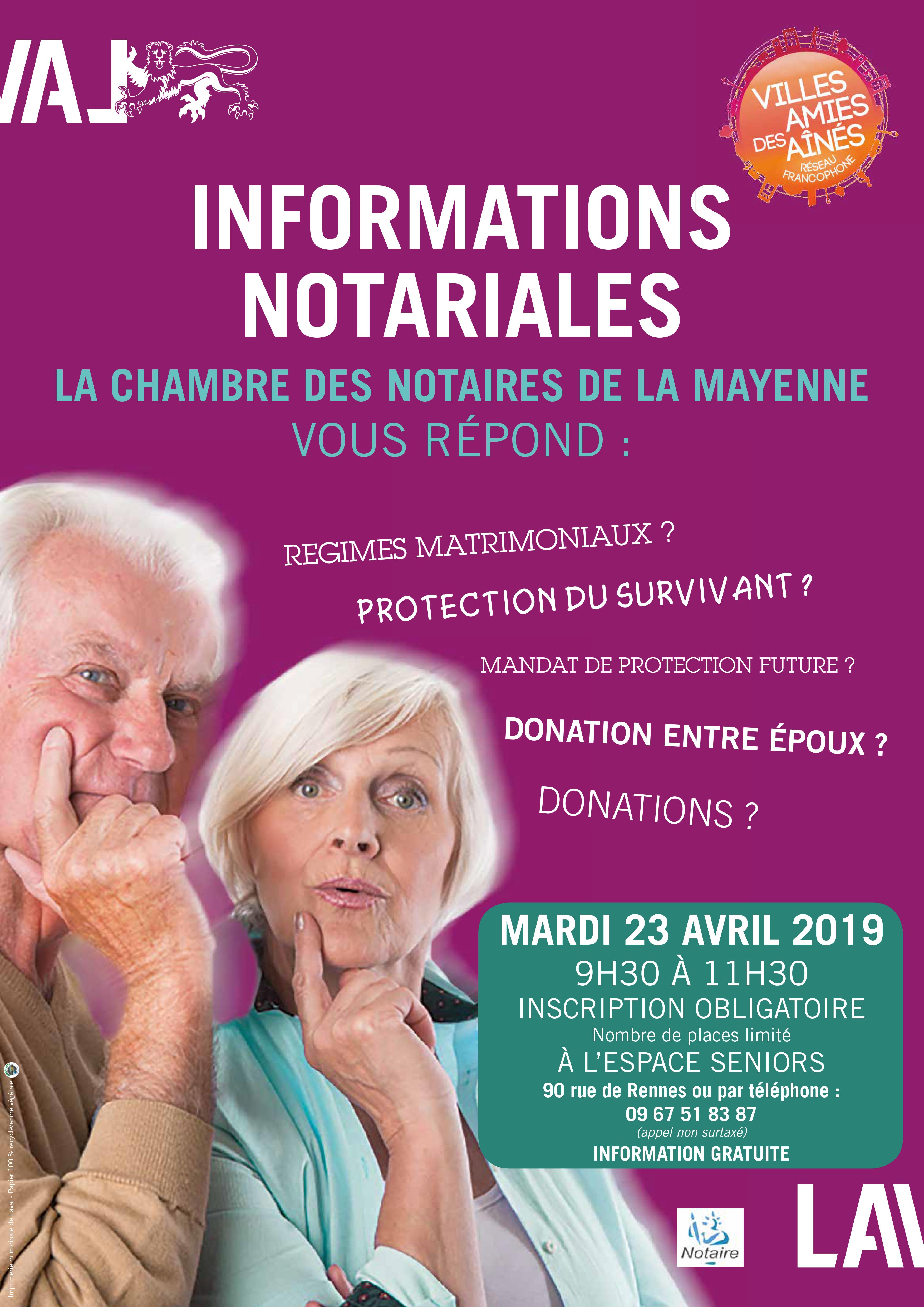 Informations Notariales : La Chambre des Notaires de la Mayenne vous répond
