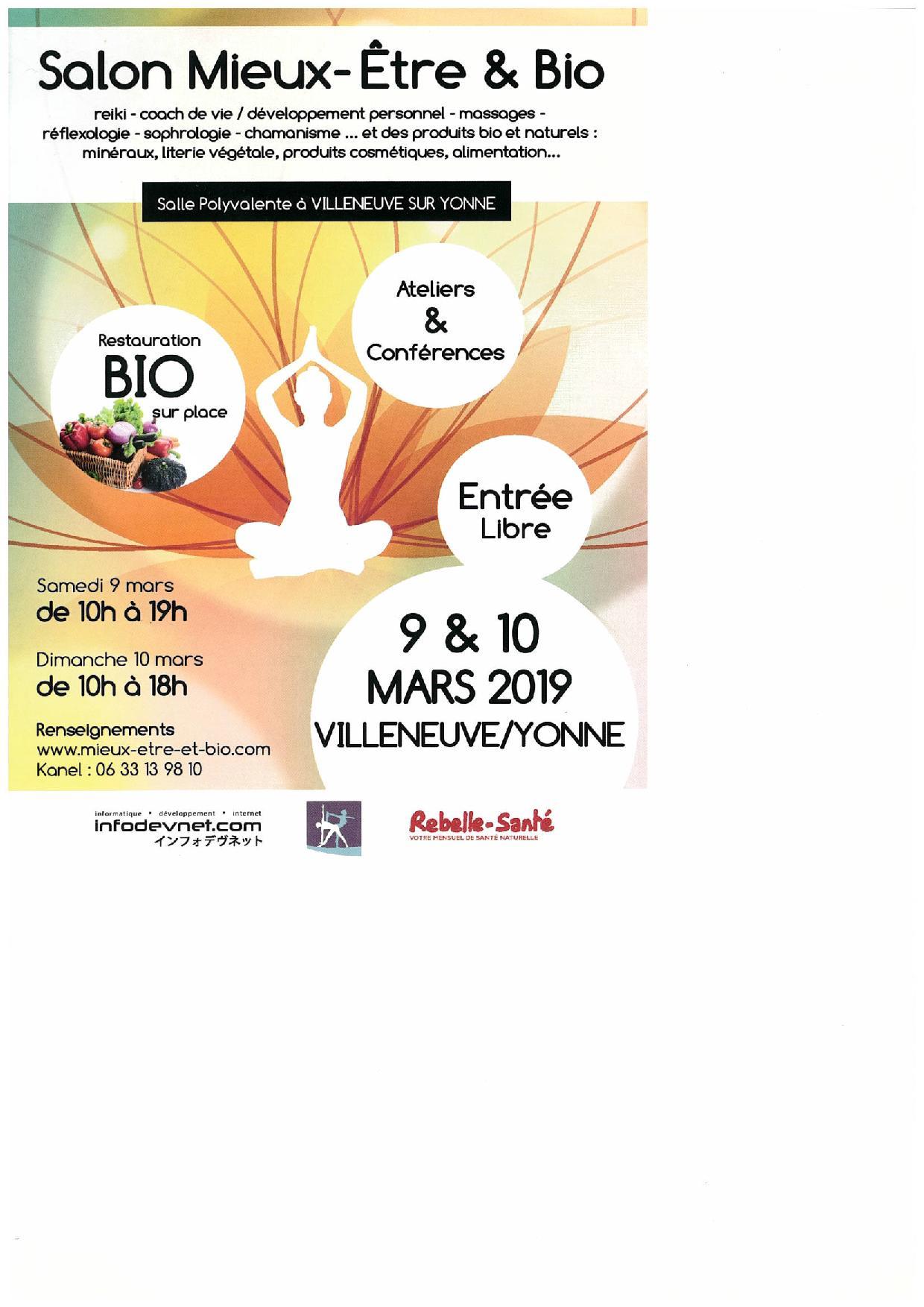 Salon Mieux-être et Bio / Salle Polyvalente - Villeneuve-sur-Yonne ...