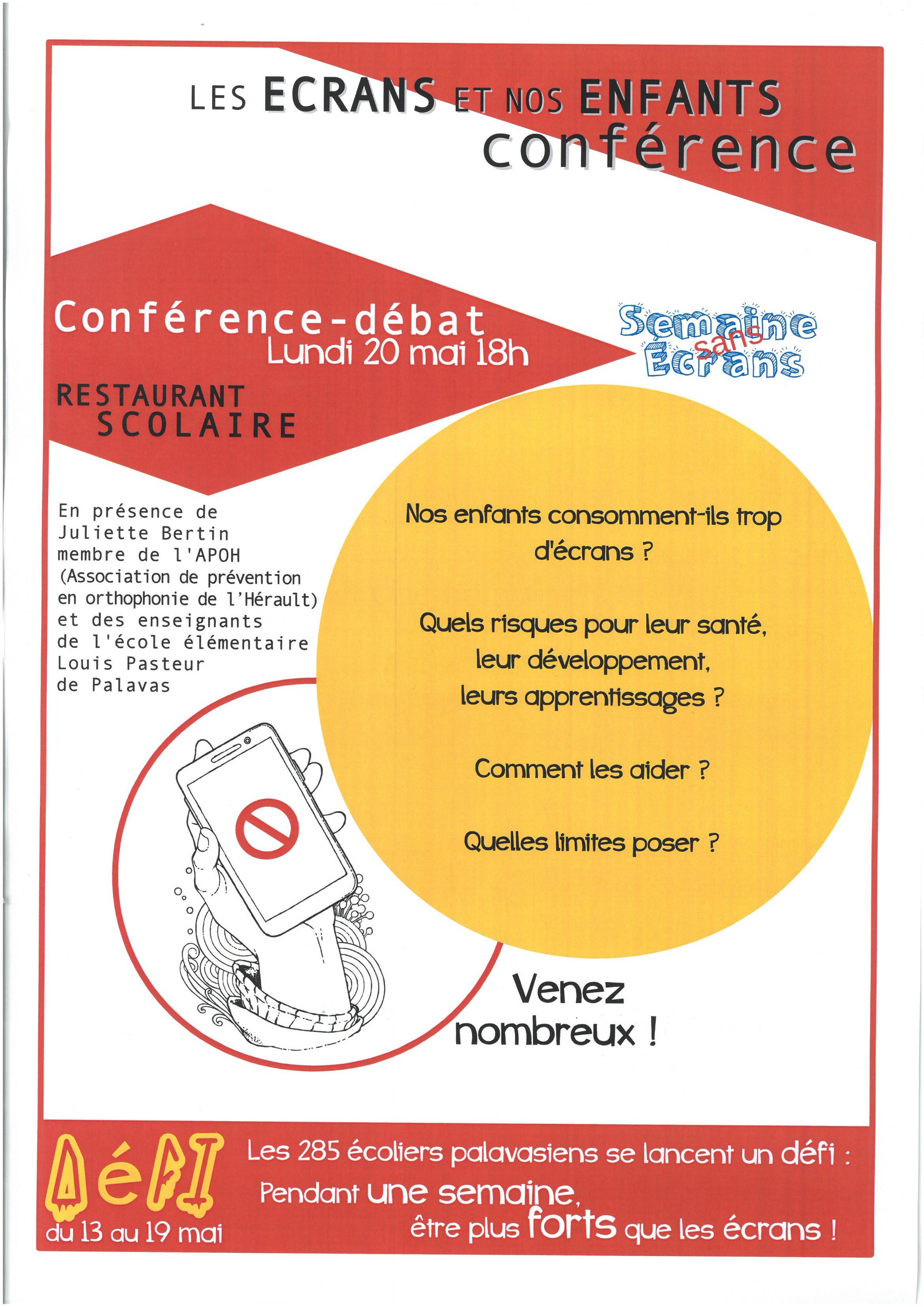 Conférence « Les écrans et nos enfants »