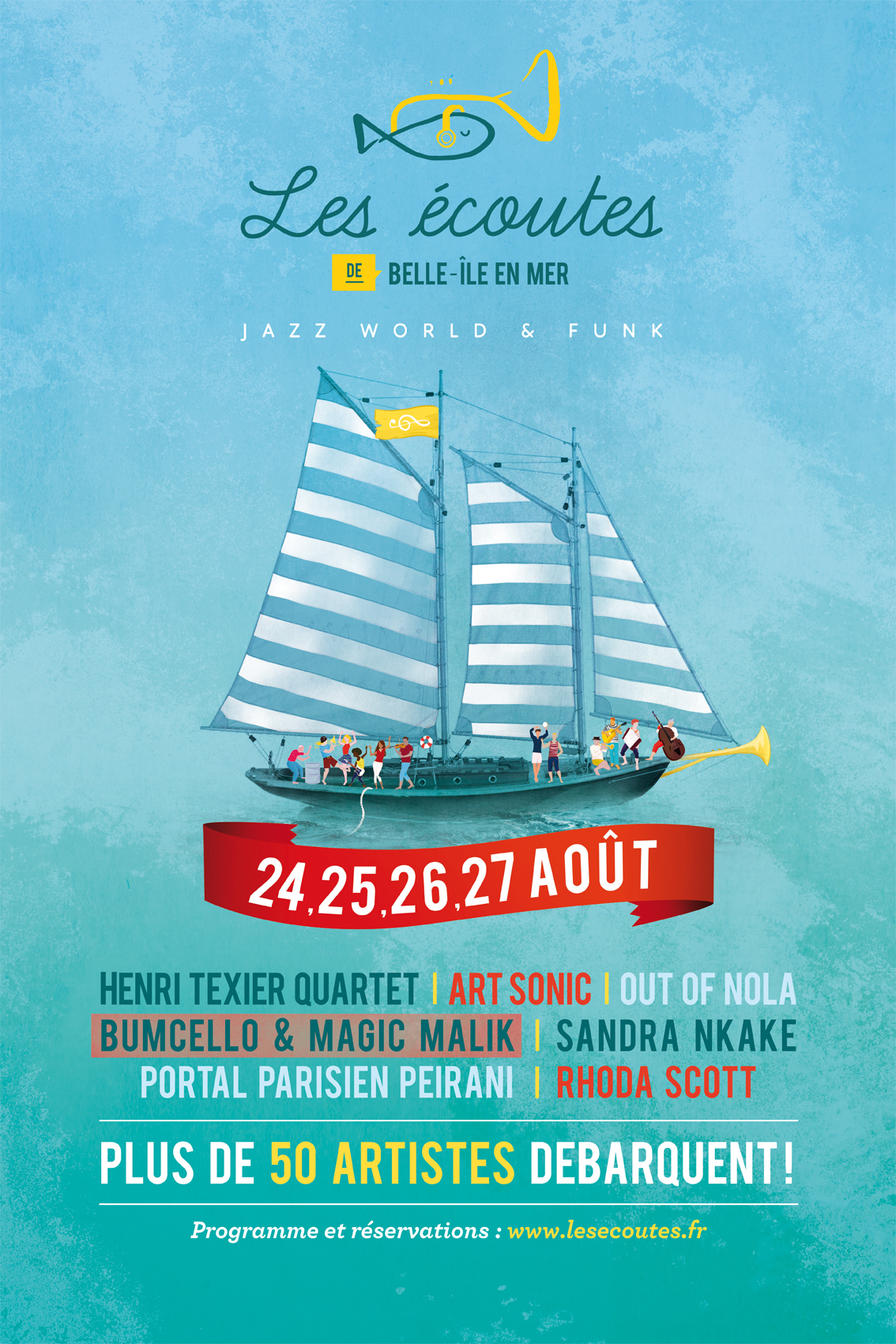 Festival Les écoutes de Belle Ile en Mer Henri Texier Quartet