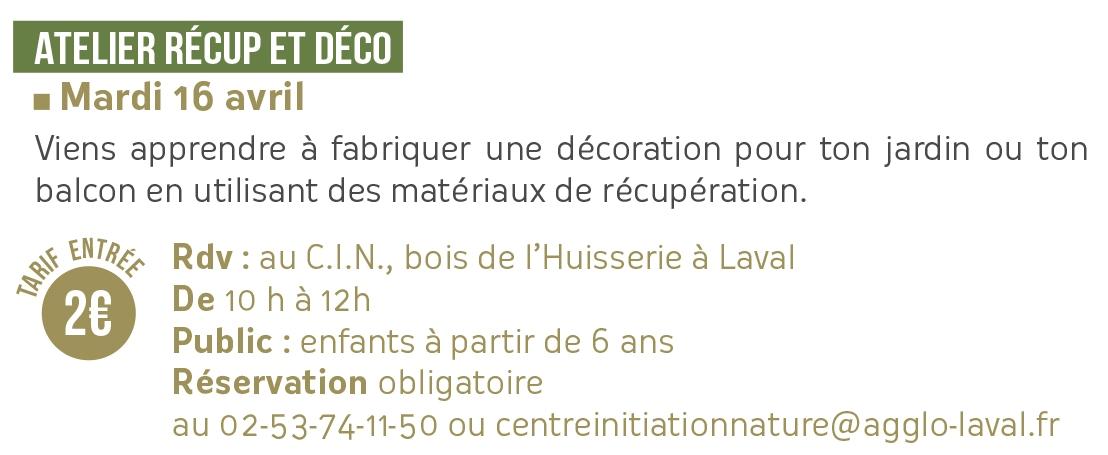 Atelier récup et déco // Centre Initiation Nature