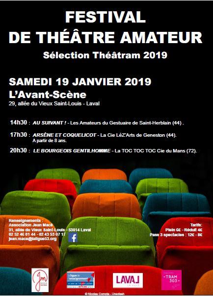 Festival de Théâtre Amateur - séléction Théâtram 2019