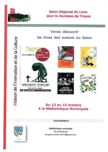 Salon du livre sorties activit s culturelles troyes for Salon jeunesse