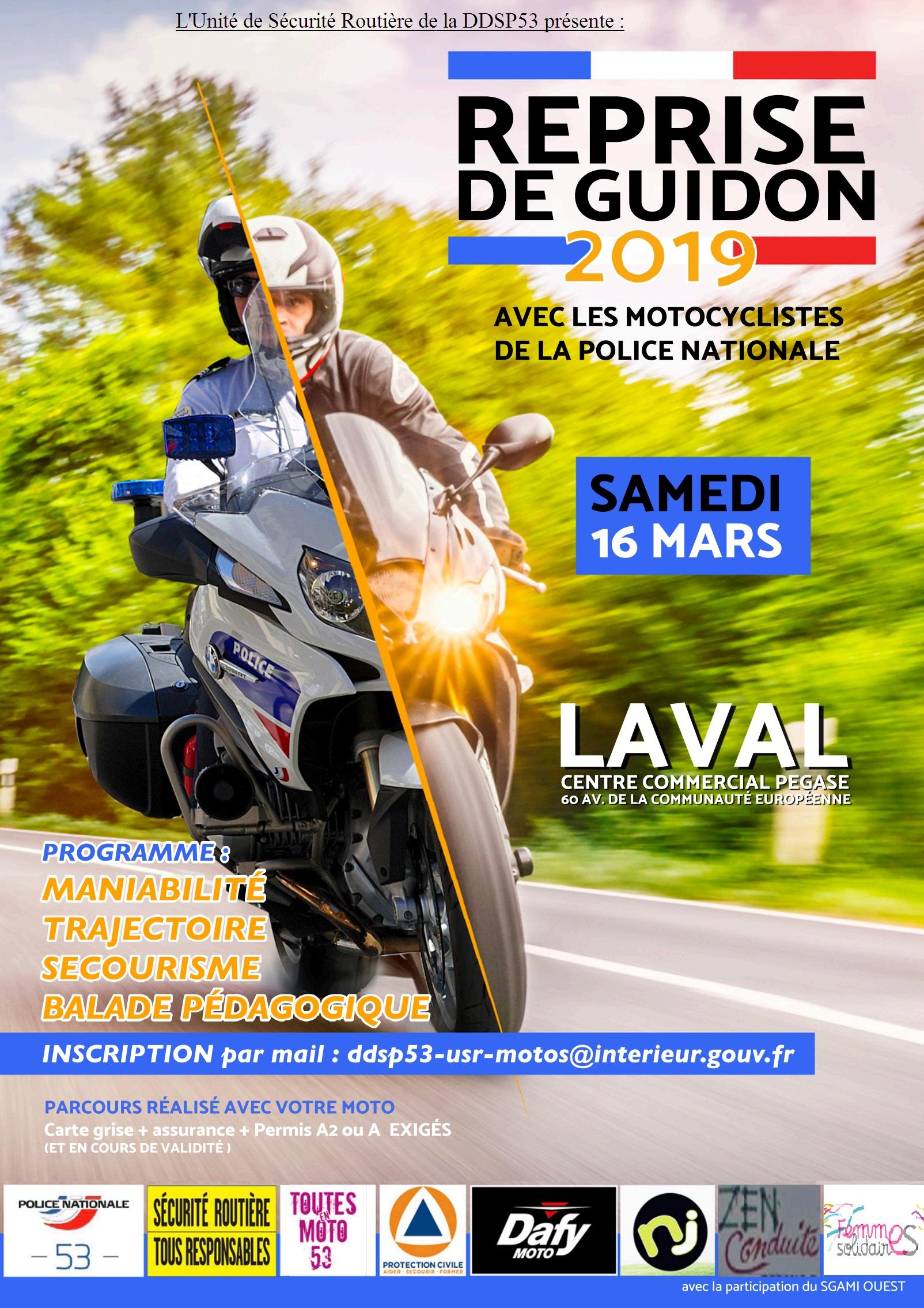 Reprise de guidon 2019 // Avec les motocyclistes de la police nationale